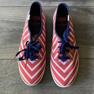 Kate Spade Keds Sneakers Red & White